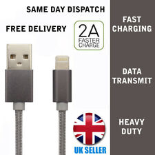 For iPhone 5 6 6S 7 8 Heavy Duty Lightning Braided USB Charger Cable 1M lead