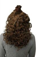 Postiche Demi-Perruque Clip-In Extensions Cheveux Boucles Marron Doré 40cm