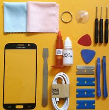 Samsung Galaxy S6 Replacement Screen Front Glass Repair Kit BLACK