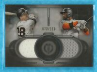 BUSTER POSEY/ANDREW McCUTCHEN 2019 Topps Tribute Dual Player Relics #DRPMC
