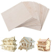🌏 20Pcs Balsa Wood Sheet Wooden Plate DIY House Ship Aircraft sculpture Model