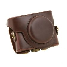 For Sony DSC-RX100 Camera Case PU Leather Case with Shoulder Belt (coffee) U8H7