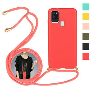 Strap Cord Chain Phone Protect Case for Samsung Galaxy S10 Lite A21S A51 Note 20