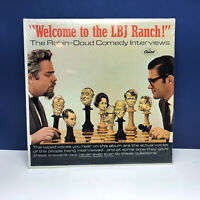 Record vinyl 33 RPM album cover sleeve vtg 33 Welcome LBJ ranch comedy interview