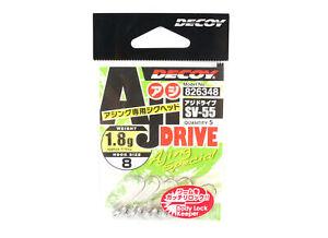 Decoy SV-55 Jig Head Aji Drive Hooks Size 8 , 1.8 grams (6348)