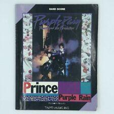 Prince & The Revolution Purple Rain Japan Band Score Song Book Mid 80's Sheila E