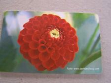 TURKEY used chipcard  flower  red flower