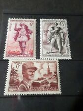 FRANCE, 1953 LOT 3 timbres 942 943 944, neufs** LUXE, MNH STAMPS