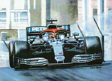 Lewis Hamilton, Monaco Grand Prix 2019 art print