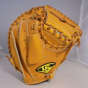 "Louisville Slugger LS 34"" TAN Leather Right-Hand Thrower Catcher Baseball Mitt"