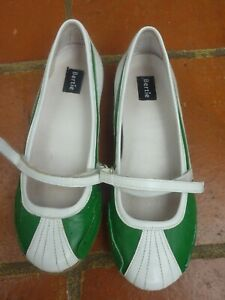 BNIB Bertie Green white mary jane /  pumps leather  shoes 3 RRP 70