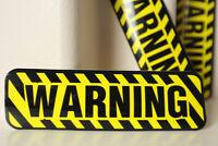 "Warning Air Travel 6x19cm FRAGILE Baggage Luggage Label 2x7"" Decal STICKER #4930"