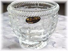 Nantucket Basket  Votive Tea Light Votive Candle Holder DePlomb 24% Lead Crystal