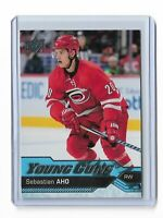 2016-17 UPPER DECK #210 SEBASTIAN AHO YG RC UD YOUNG GUNS ROOKIE HURRICANES