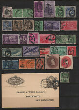 US Duplex Numeral Cancel Collection of All Different Stamps