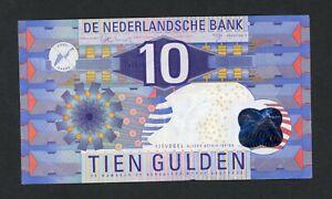 NETHERLANDS 10 GULDEN  1997 PICK # 99  F-VF.