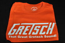 "GRETSCH ""THAT GREAT GRETSCH SOUND"" TEE SHIRT SMALL ORANGE"