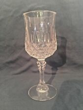 """Cristal d'ARQUES LONGCHAMP DURAND 24% Crystal Wine Water (Glass) (Goblet) 7-1/4"""""""