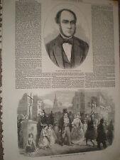 Sir John Ratcliff Mayor of Birmingham 1858 old print ref J