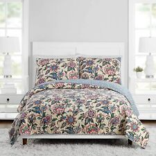"""Vera Bradley Stitched Flowers Quilt King Size 104"""" x 90"""" *Shams Not Included*"""