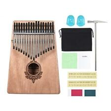 17-clé Kalimba portable pouce piano Mbira acajou bois avec Carry Bag Tragbar