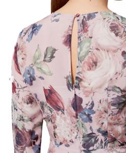 New Hobbs Rosebelle Pink Dress Size UK 16