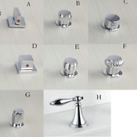 Silver Handle For Bathroom Basin Tub Cold/Hot Water Faucet Taps Control