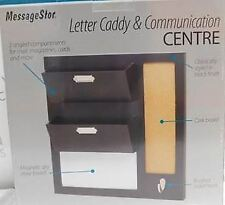 Messagestor Letter Caddy Comms Centre Organiser Mail Magnetic White/Cork board