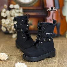 MSD Shoes 1/4 BJD Shoes Dollfie DREAM MID Black Punk Boots SOOM Luts AOD DOD EID