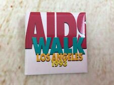 Vintage 1993 Aids Walk Los Angeles Gay Interest Health Badge Pinback Button