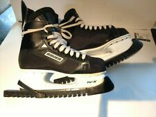 BAUER Impact 75 Mens Black Ice Hockey Skates TUUK Blades Size 8 w/guards