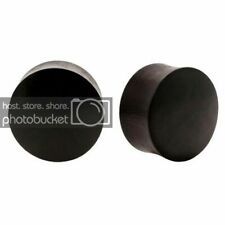 Areng Wood Double Flared Organic Plugs Pair