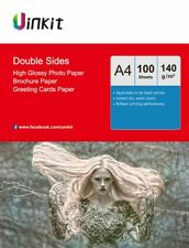 100 Sheets A4 140Gsm Double Sides High Glossy Photo Paper Inkjet Paper  Uinkit