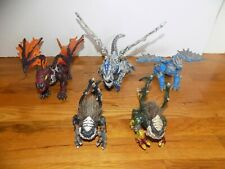 Mega Bloks Dragons Fire and Ice lot of 5 Dragons