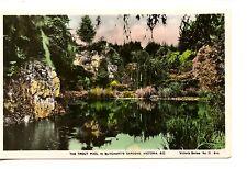 Pretty Trout Pool-Butchart Gardens-BC-Canada-RPPC-Real Photo Vintage Postcard
