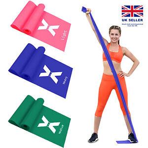 Latex Resistance Therabands Assisted Rehabilitation Physio Exercises Gym Yoga UK