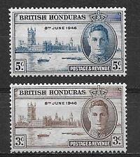 BRITISH HONDURAS , BELIZE , 1946 , PEACE ISSUE , SET OF 2  , PERF , MNH