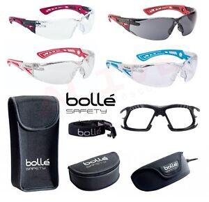 Bolle Safety Glasses RUSH+ Clear / Smoke Lens Rush+ Small Blue / Pink Clear Lens