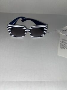 Janie and Jack Blue Navy Striped Sunglasses NWT Size 0-2 Years Girls