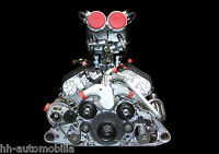 DINA4 Poster Foto: BMW McLaren F1 S70 Motor Rennwagenmotor race car engine (2)
