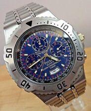 MINT CONDITION ~PULSAR N945-6A10~100M Quartz Alarm Chronograph Stainless Watch