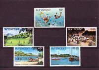 St Vincent 1975 Tourism  MNH set S.G. 451-455
