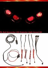 4x Red ZX14R Headlight Demon Devil LED Light Evil Angel Projector Halo Accent ZX