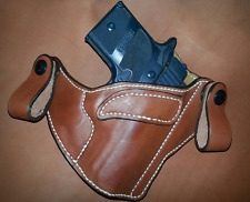 SIG SAUER P938 IWB LEATHER HOLSTER CCW SUEDE LINED DIRECTIONAL SNAPS