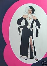 WOMENS DALMATION CRUELLA  DEVILLIE COSTUME WOMANS  DRESS  ONLY , DEVIL