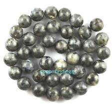 round 10mm natural larvikite gemstone loose Beads 15""