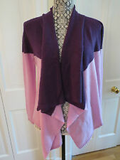 Gorgeous Magaschoni Cashmere Waterfall Cardigan Lilac/Amethyst XS NWT $398