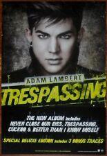 Adam Lambert Trespassing Discontinued Ltd Ed Rare Poster +Free Pop/Rock Poster!