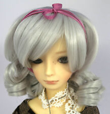 Doll Wig Short Ringlets Silver Gray BJD Ball Jointed Size 7, 8, 9, 10 NEW