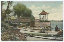 Summer House Boat Landing Sunshine Farm Canaan New York Postcard